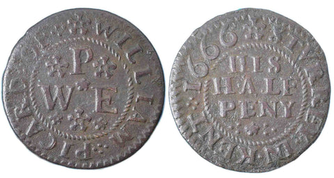 Kent (544), Sturry, William Picard, Halfpenny, 1666