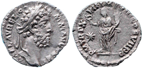 Roman Empire, Commodus (177-192), Denarius, Felicitas on rev.