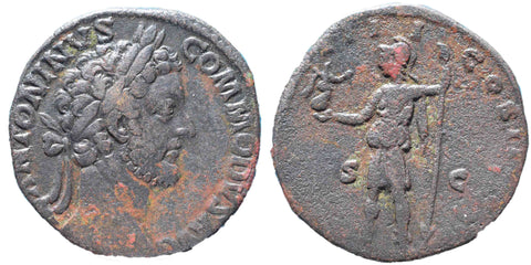Roman Empire, Commodus (177-192), Sestertius, Roma on rev.