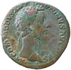 Roman Empire, Commodus (177-192), Sestertius, Commodus in quadriga on rev.