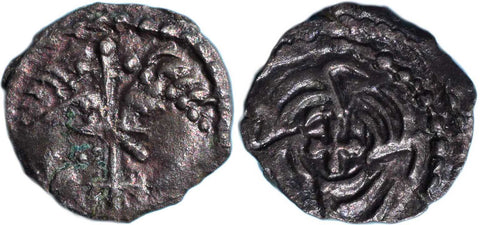 S. 802A. Anglo-Saxon Coinage (c.710-60 AD), Silver Sceatta Series J.