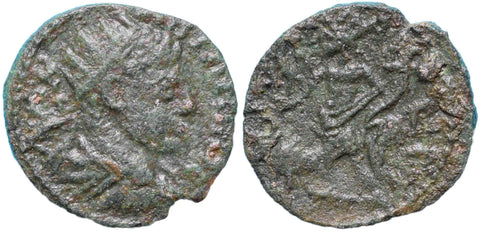 Roman Empire, Caracalla (198-217), AE24 of Raphanea, Genius on rev.