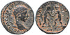Roman Empire, Elagabalus (218-222), AE18 of Laodicea ad Mare, wrestlers on rev.