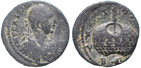 Roman Empire, Elagabalus (218-222), AE27 of Tyre, Prize-crown on rev.