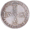 S.3524. William III (1694-1702), Sixpence, 1696, first bust, large crowns, Norwich.