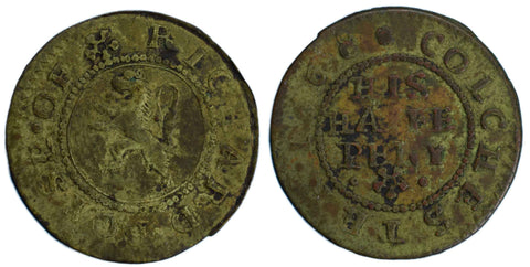 Essex ( 97), Colchester, Richard Boyse, Halfpenny, 1668