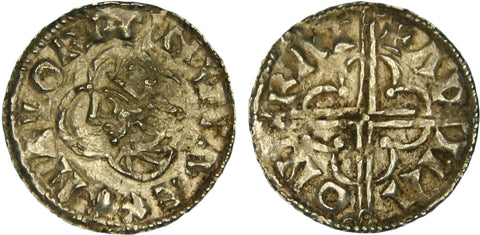 S.1157. Silver penny of Cnut (1016-1035), Cambridge Mint.