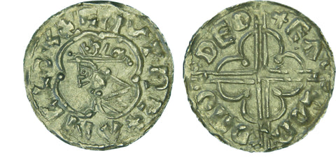 S.1157. Silver penny of Cnut (1016-1035), Thetford Mint.