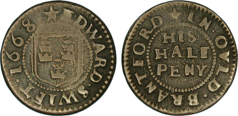 Middlesex ( 21, N.9098), Old Brentford, Edward Swift, halfpenny, 1668