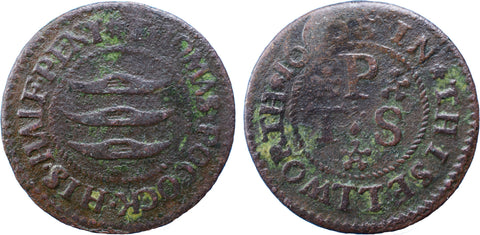 Middlesex (112, N.9189), Isleworth, Thomas Pocock, Halfpenny, 1666