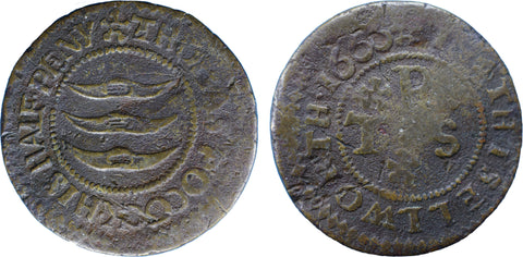 Middlesex (112, N.9188), Isleworth, Thomas Pocock, Halfpenny, 1666