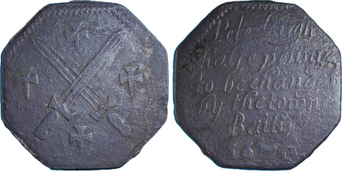 Northamptonshire (106, N.3433), Peterborough, Town Bailiff, Halfpenny, 1670