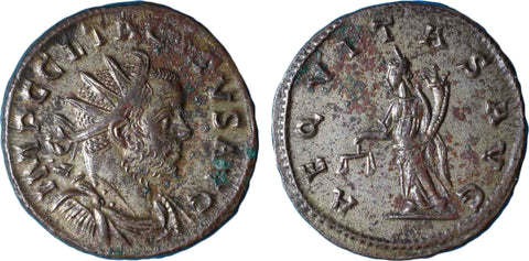 Roman Empire, Tacitus (275-276), Antoninianus of Gaul, AEQVITAS AVG