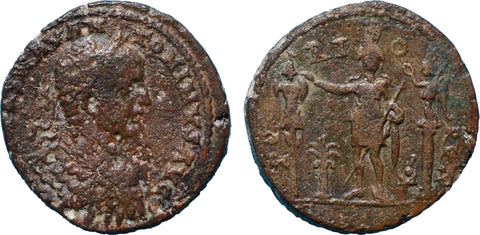 Roman Empire, Elagabalus (218-222), AE28 of Tyre, Astarte on rev.