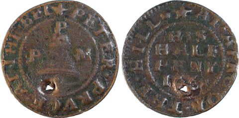 Northamptonshire (  3), Aynhoe, Peter Pruce at the Bell, Halfpenny, 1668