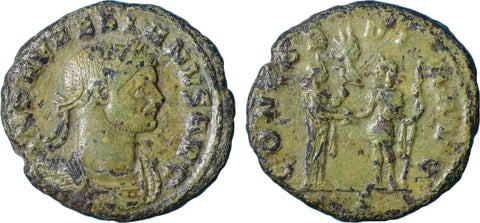 Roman Empire, Aurelian (270-275), Reduced Sestertius, CONCORDIA AVG