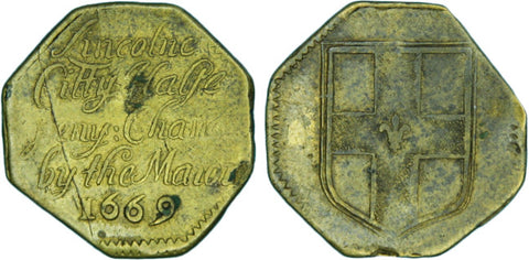 Lincolnshire (138, N.2954), Lincoln, City Halfpenny, 1669