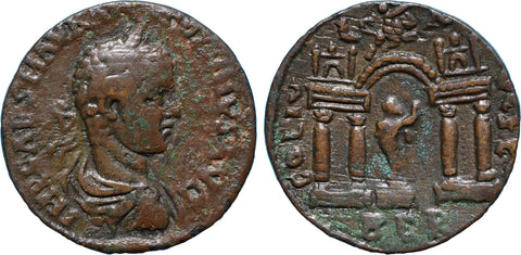 Roman Empire, Elagabalus (218-222), AE27 of Berytus, Silenus on rev.