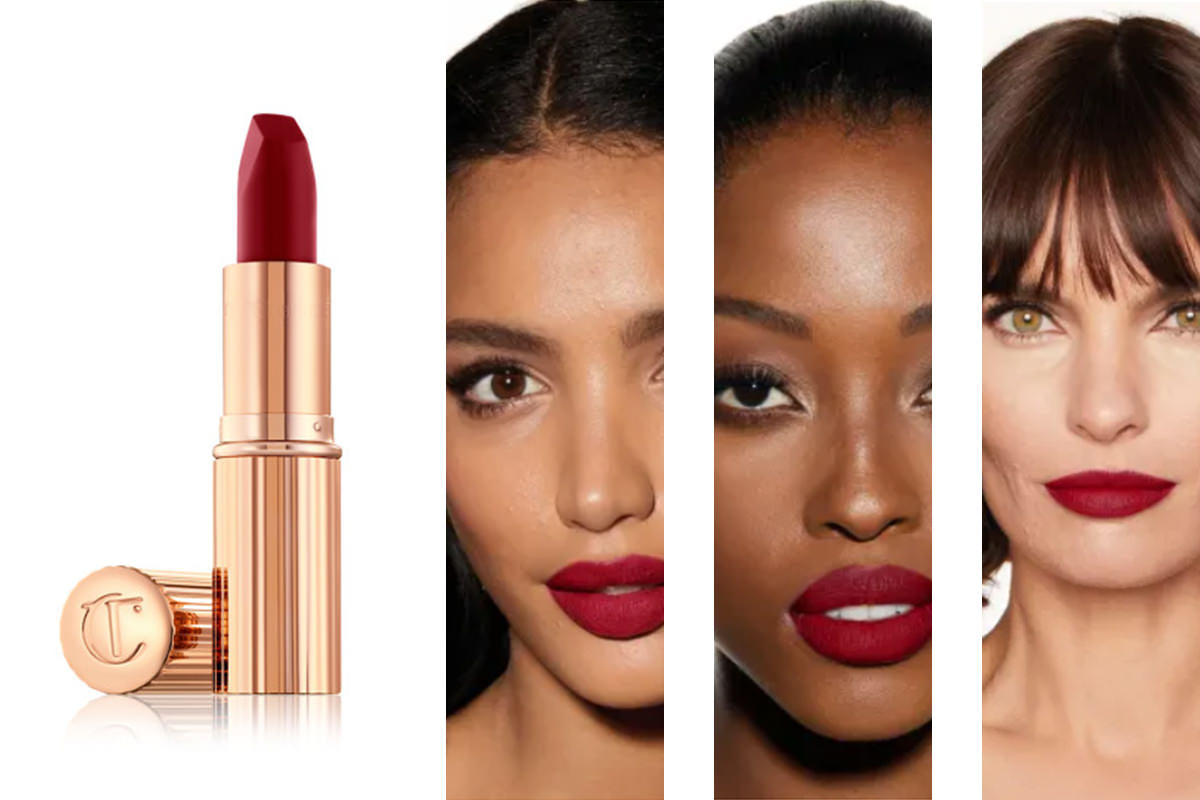 Charlotte Tilbury Matte Revolution Lipstick Shade Red Carpet Red