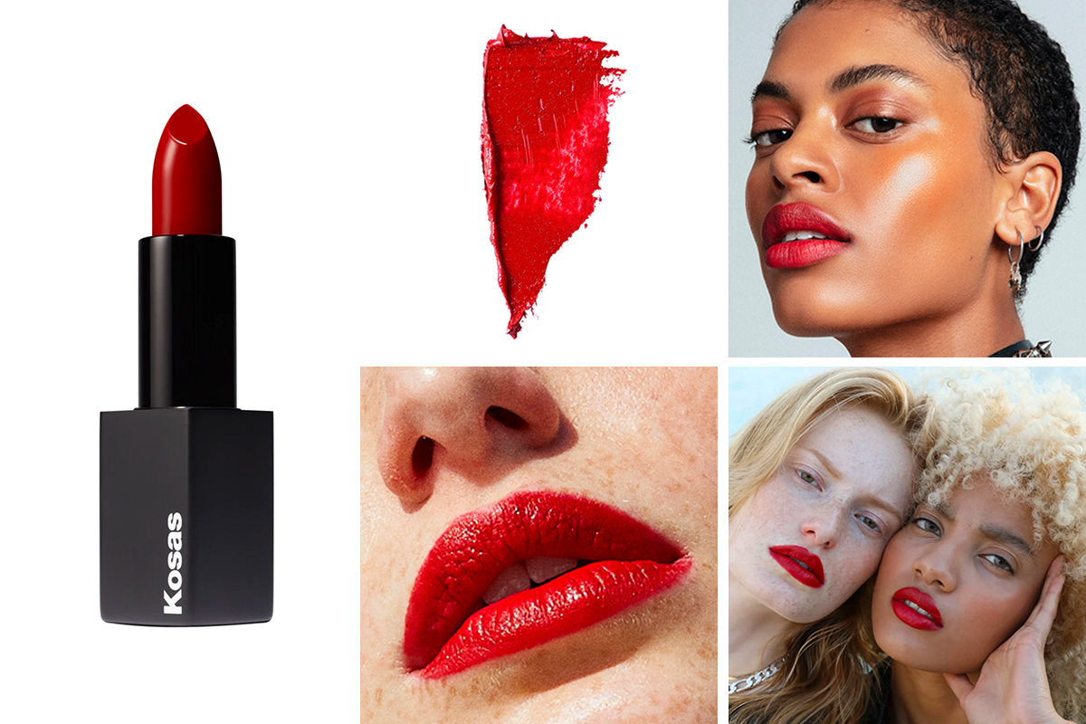 Kosas Weightless Lipstick Shade Warm Fiery Red