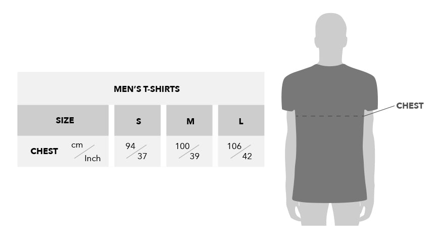 Urban Gilt Size Guide Mens T-shirts