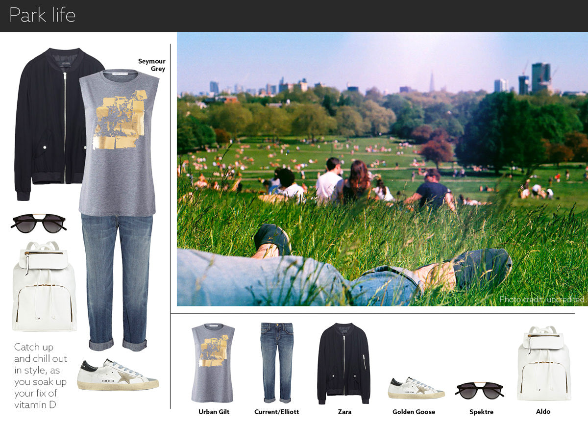 park outfit - embrace life in our gold printed women's t-shirt