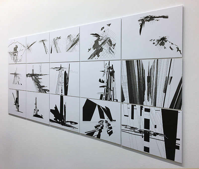 smaller sketches - zaha hadid paintings