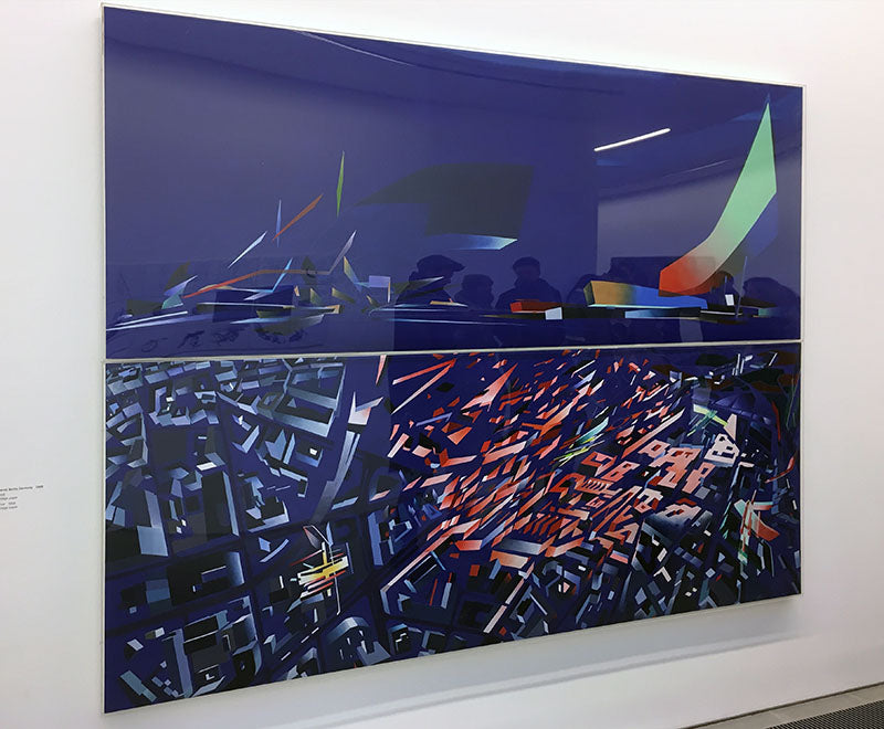 victoria city aerial 1988 - zaha hadid paintings