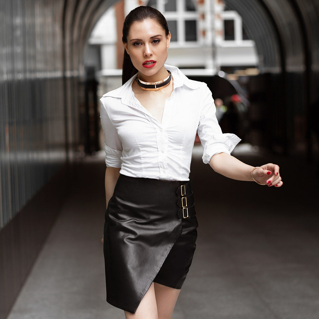 soul-aligned woman on a mission - mercer black skirt