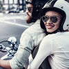 our story - couple on motorbike