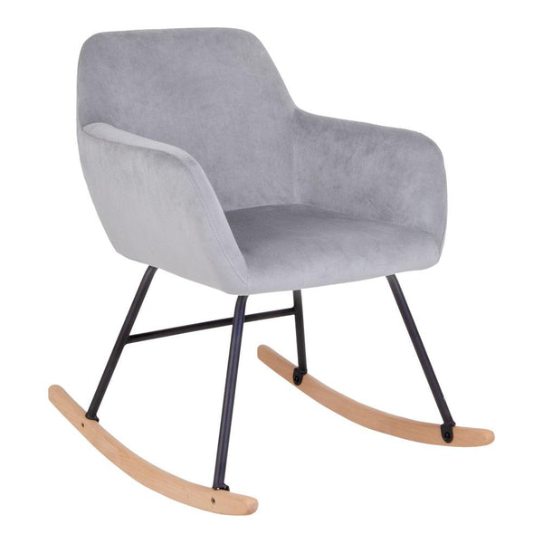 Velour gyngestol, velour rockingchair