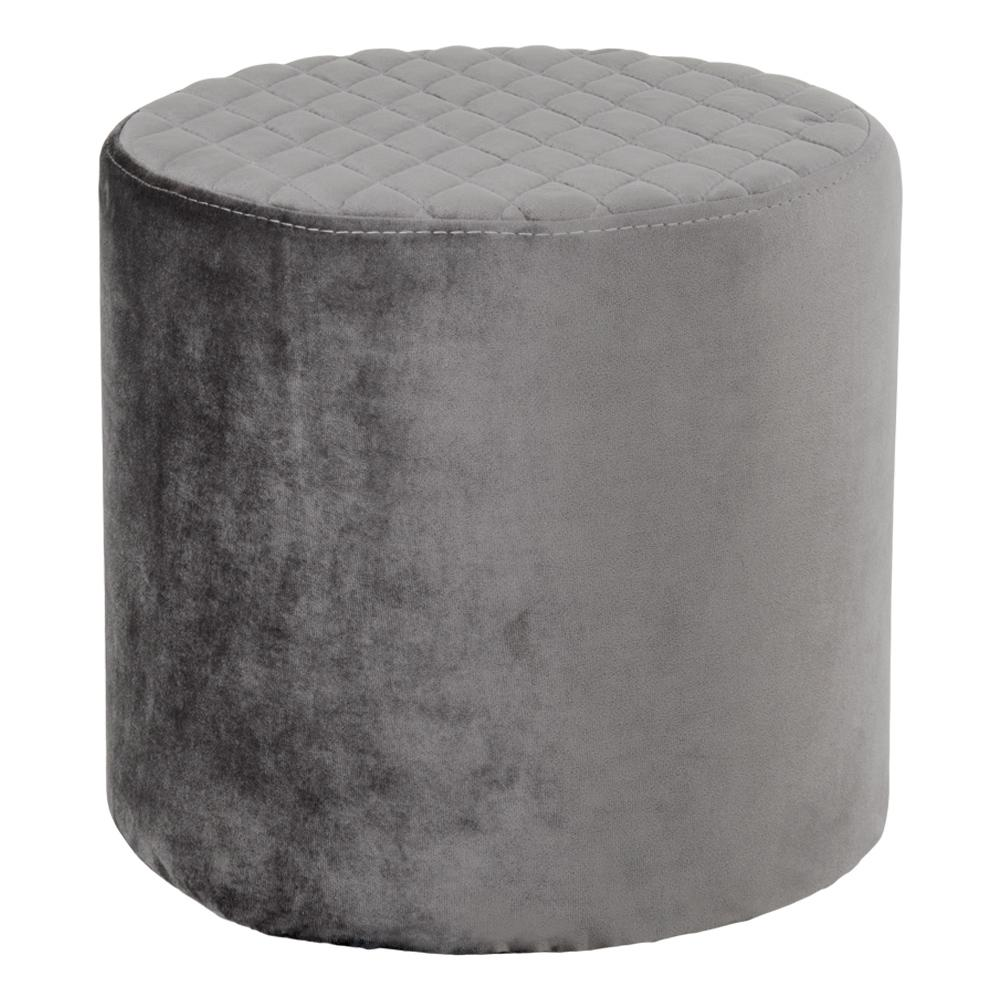 Billig velour puf fra house nordic, cheap pouf grey velvet