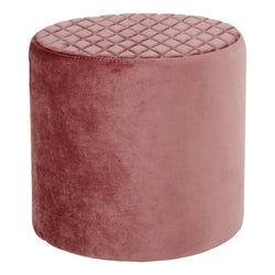 Ejby puf i rosa velour