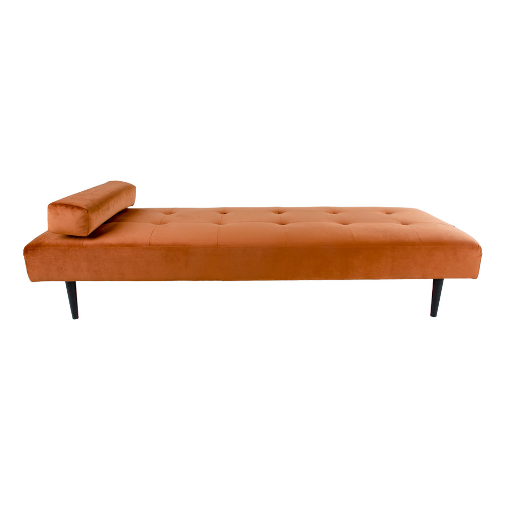orange velour daybed