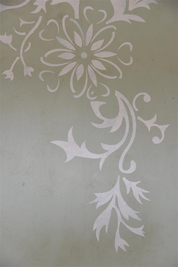 Stor blomster stencil