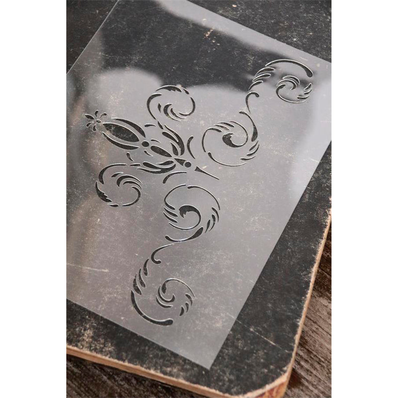 oblong flower stencil
