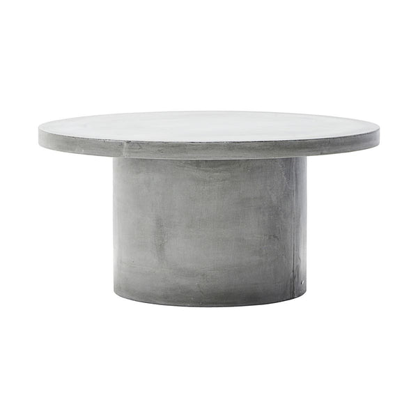 rundt sofabord i beton, concrete table round