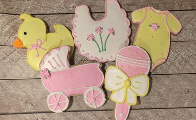 Baby cookies to celebrate your new arrival
