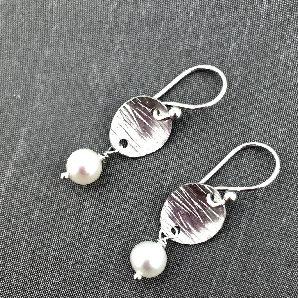 pearls white earrings international freshwater pearl shop hoop