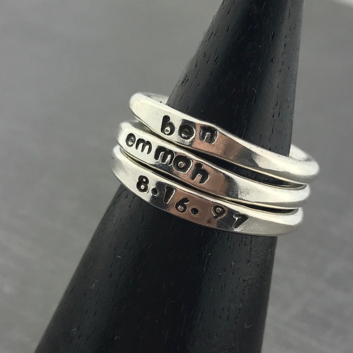 Stackable Personalized Ring