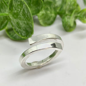 Full Twist Fine Silver Ring