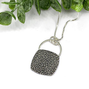 Sterling Silver Cubed Necklace