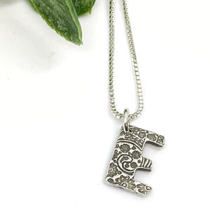 Initial It - Initial Monogram Alphabet Letter Sterling Silver Charm