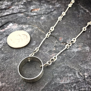 Infinity Bar Circle Sterling Necklace