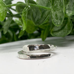 Half Twist Fine Silver Wrap Ring