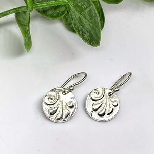 Circle Plume Sterling Silver Earrings - As seen on Jane the Virgin - Petite Circle Earrings