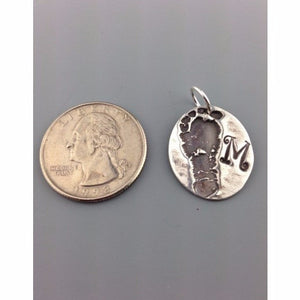 Captured Footprint Pendant Charm