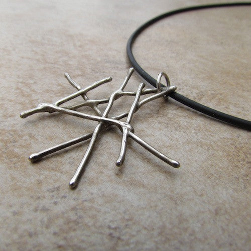 Twigs {Oscars} Necklace - Argentium Silver