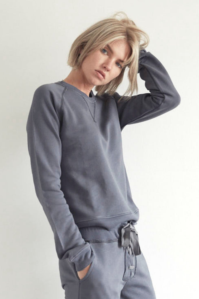 Organic Raglan Sweatshirt in Ombre Grey