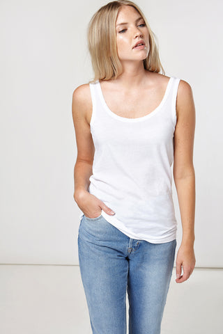 Everyday Luxe Tank in White
